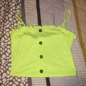NWT Neon crop top